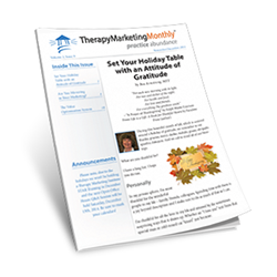 Therapy Marketing Monthly, Volume 2, Issue 9