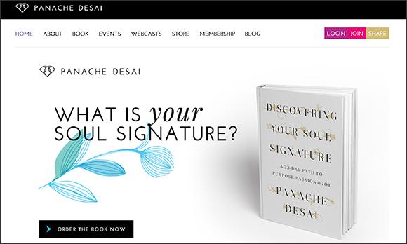 Panache Desai Home Page